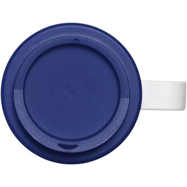 Brite-Americano® Vaso térmico grande de 350 ml - Blanco / Azul