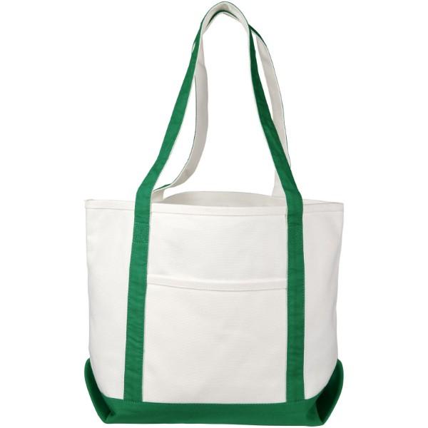 Lodičková taška Premium z hrubé bavlny - Přírodní / Zelená