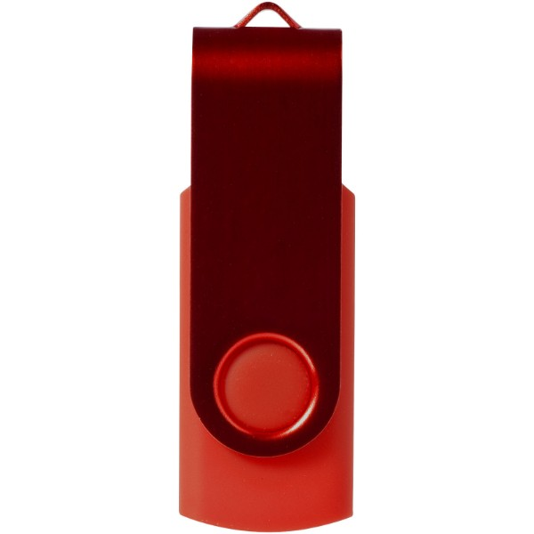 Rotační metalické USB - Tmavě červená / 2GB