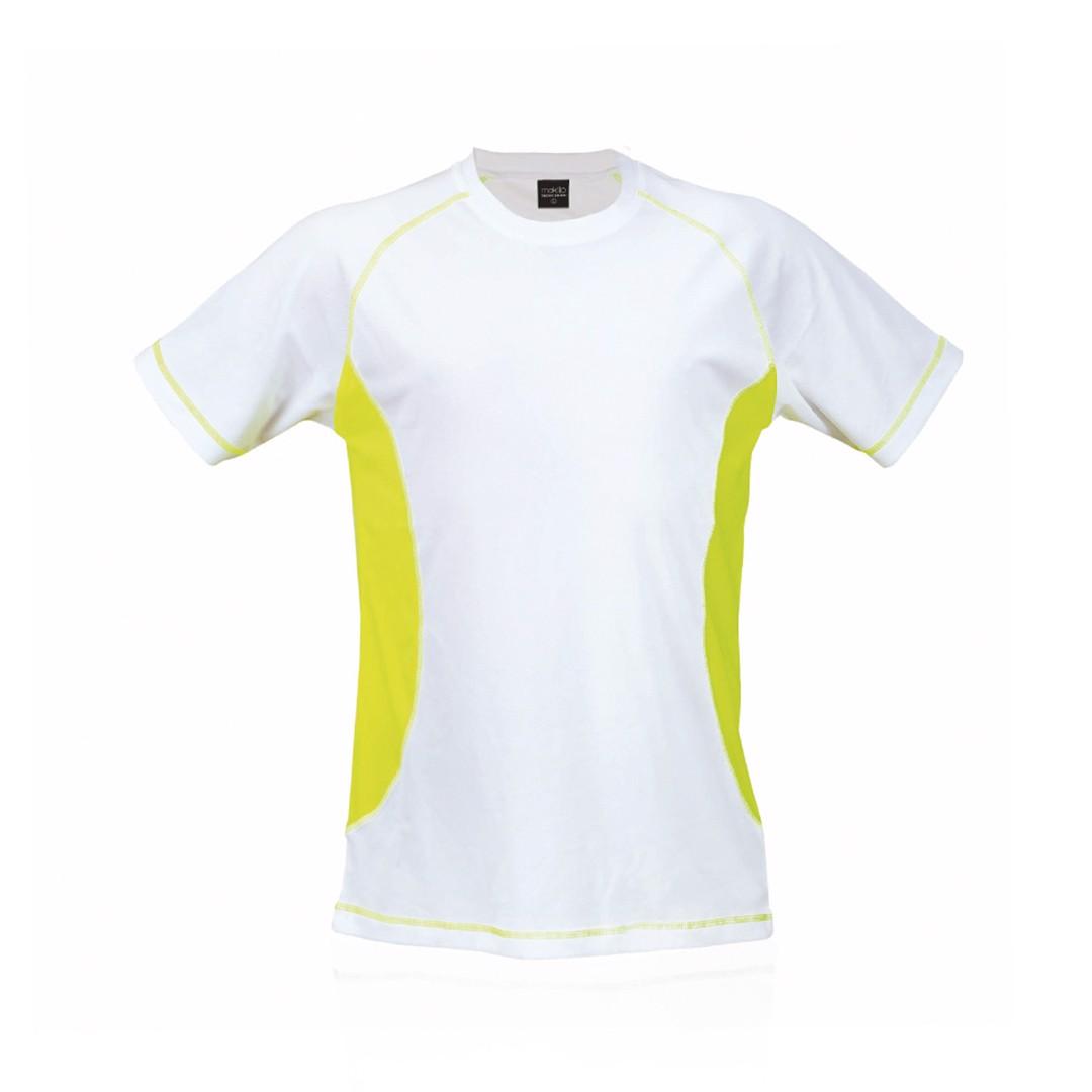 T-Shirt Adulto Tecnic Combi - Amarelo Fluor / L