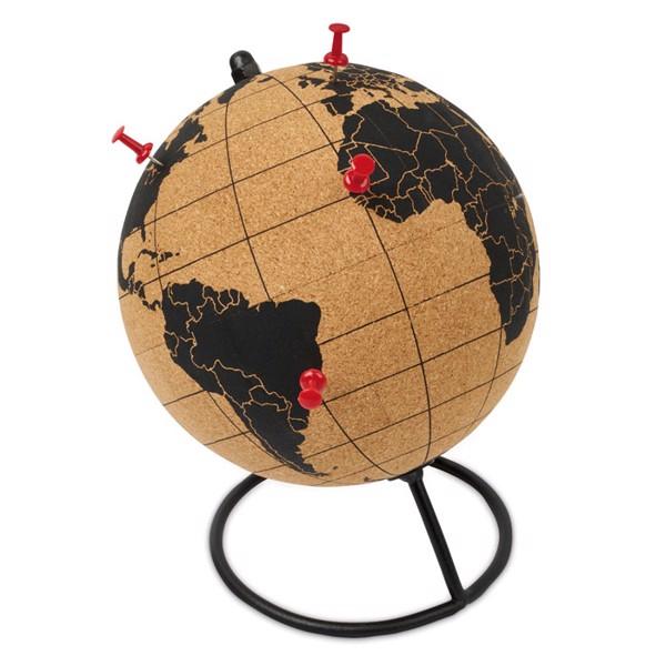 Globe terrestre en liège Pinpoint