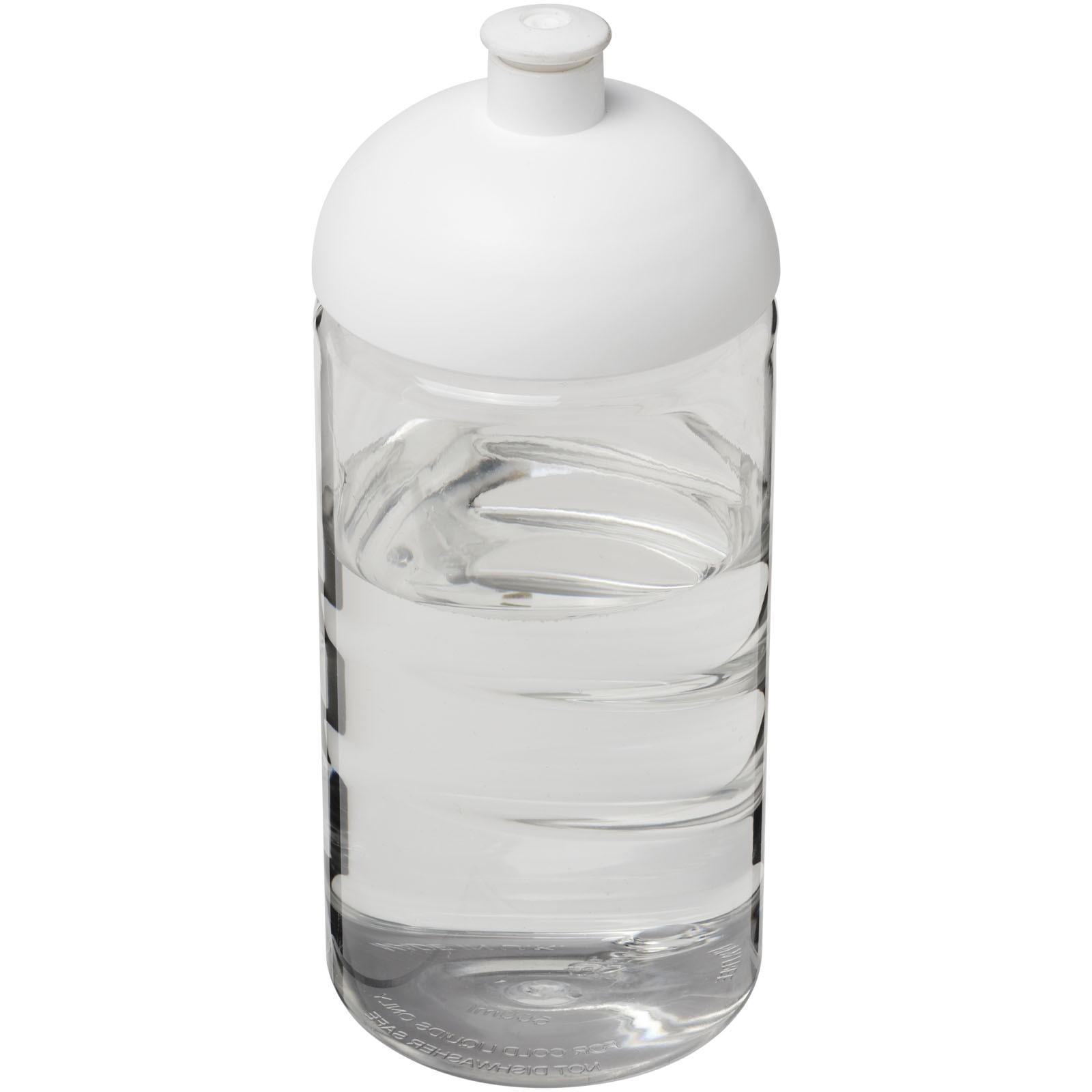 Láhev s kupolovitým víčkem H2O Bop® 500 ml - Průhledná / Bílá
