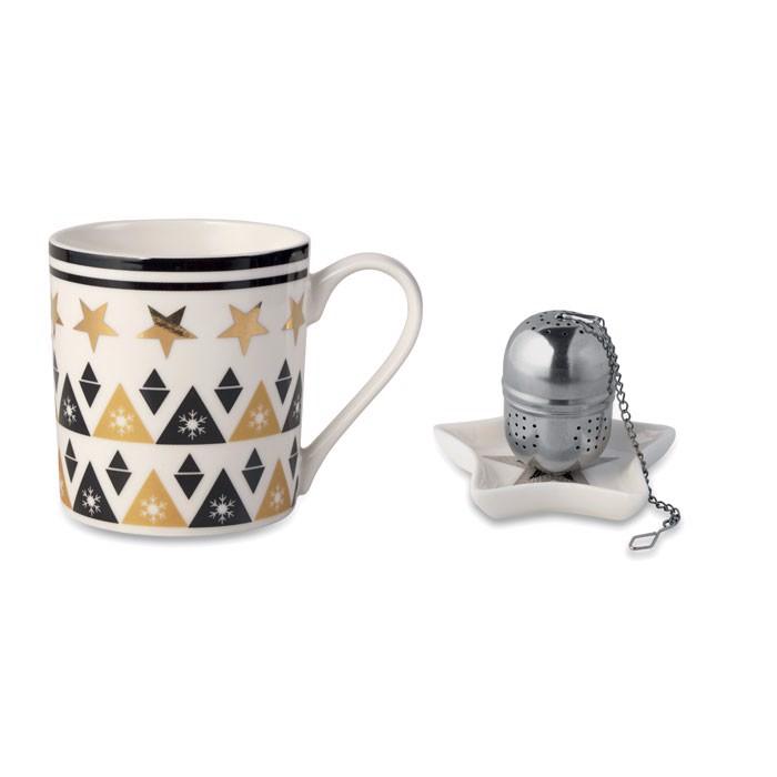 Mug, mini plate, filter in box Unique