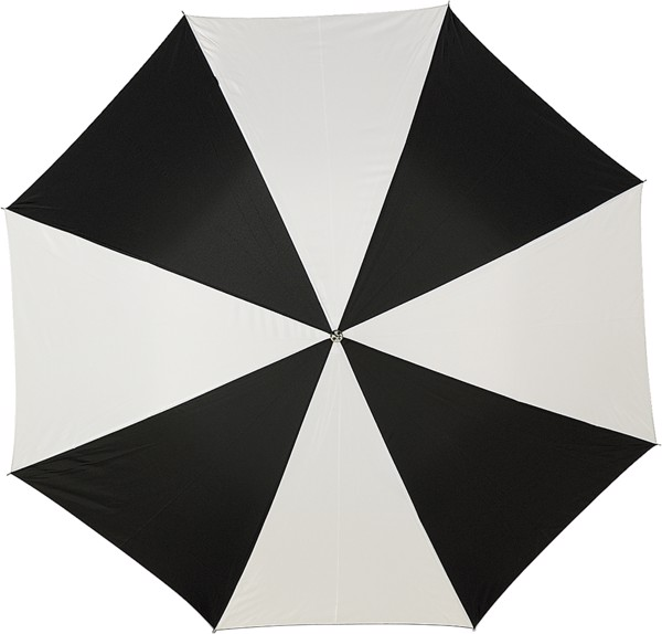 Polyester (190T) umbrella - Black / White