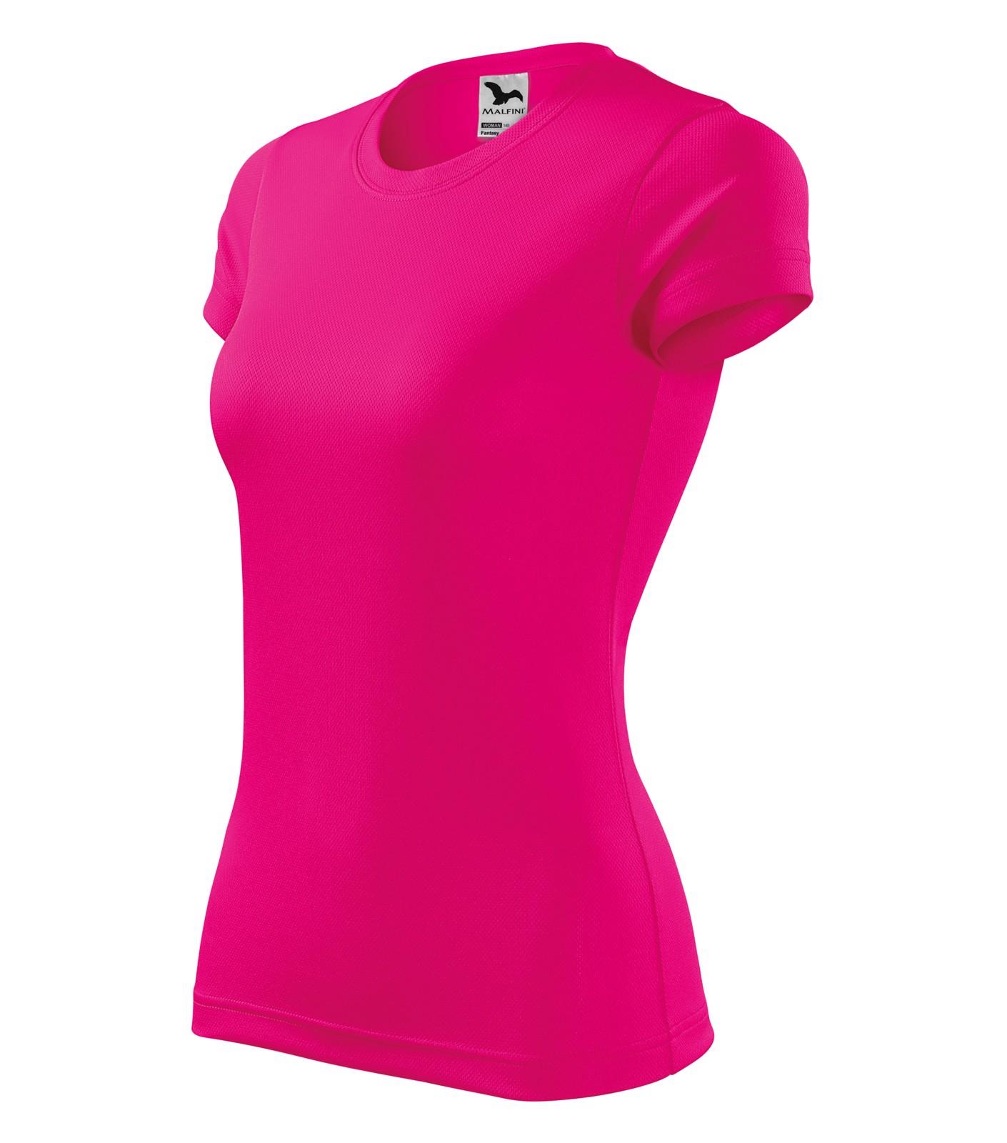 Tričko dámské Malfini Fantasy - Neon Pink / S