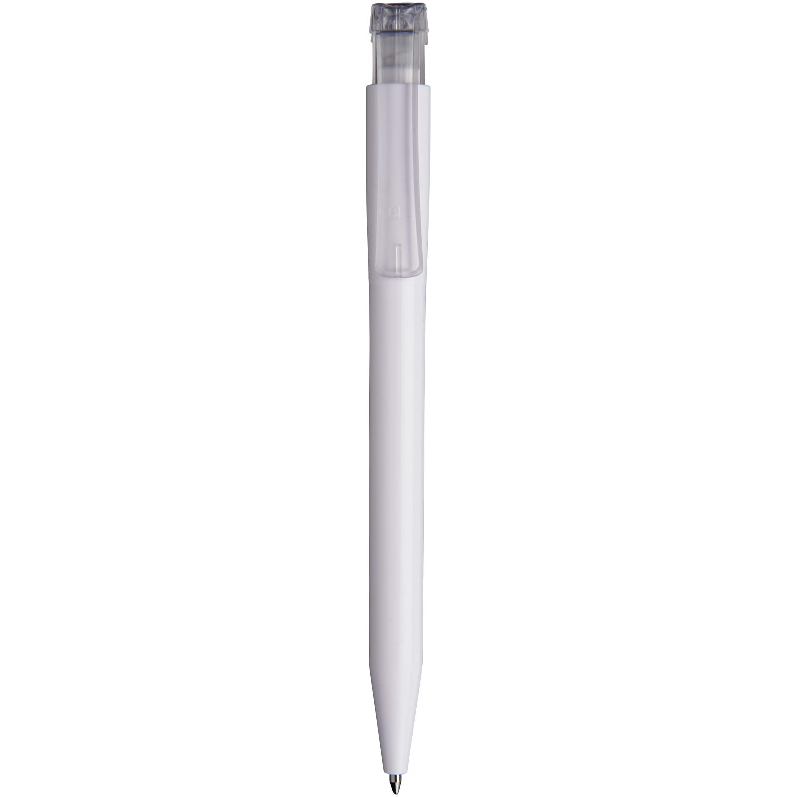 York ballpoint pen - White / Transparent clear