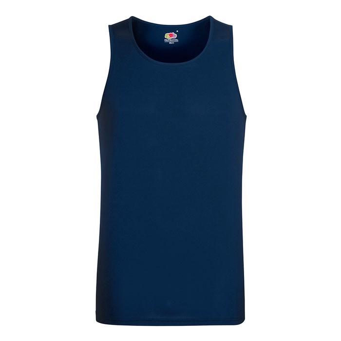 Herren T-Shirt Sport Performance Vest 61-416-0 - Deep Navy / S