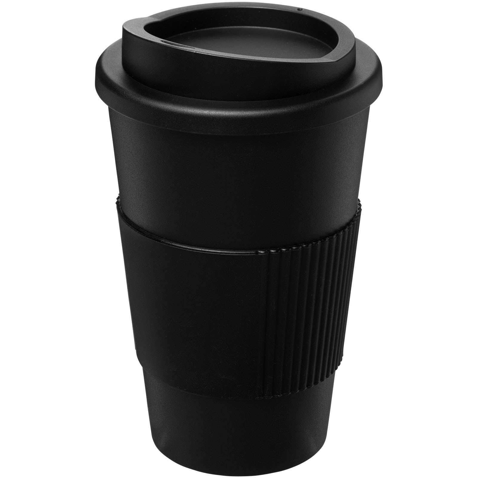 Americano® 350 ml insulated tumbler with grip - Solid black