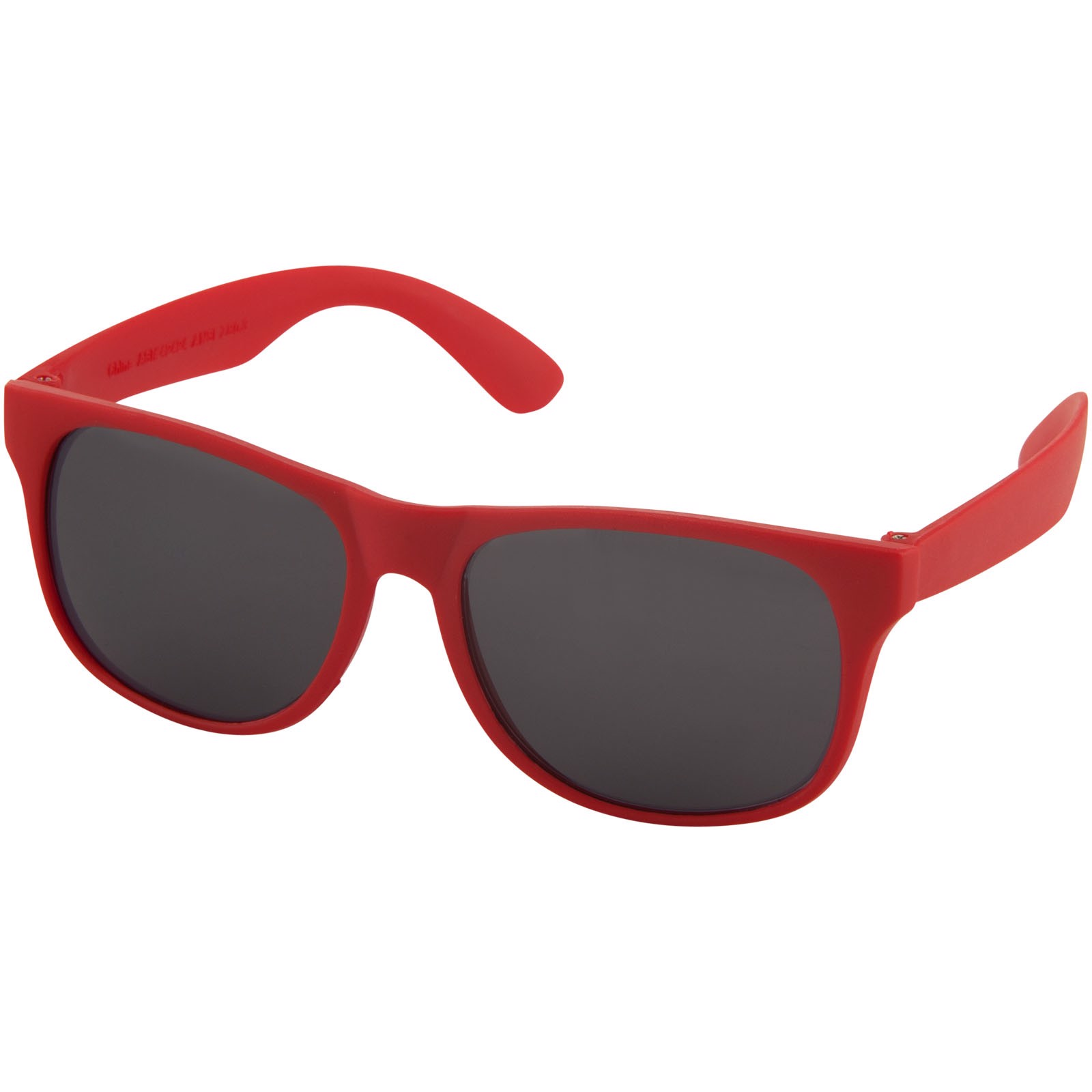 Retro single coloured sunglasses - Red