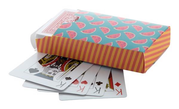 Hrací Karty V Krabičce Na Zakázku Holdem - Červená / Bílá