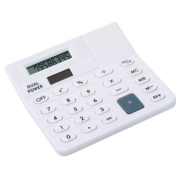 8-Místná Stolní Kalkulačka Corner / Bílá