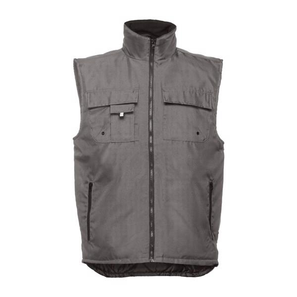 THC STOCKHOLM. Workwear padded bodywarmer - Grey / XXL