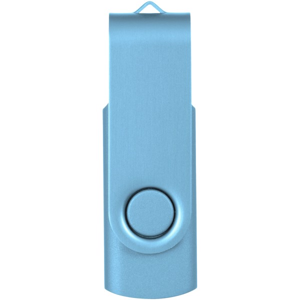 Rotate-metallic 2GB USB flash drive - Blue