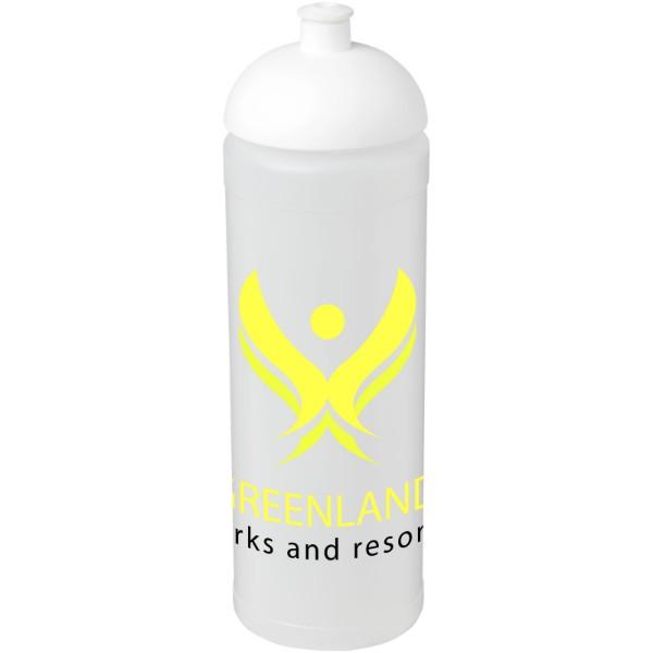 Sportovní láhev s kupolovitým víčkem Baseline® Plus grip 750 ml - Průhledná / Bílá