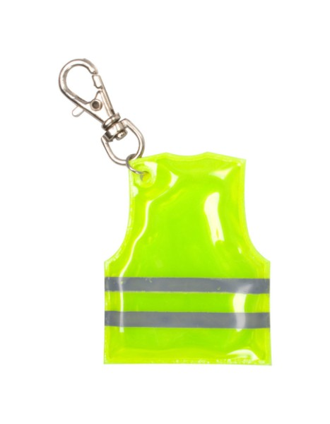 Přívěšek Na Klíče Ve Tvaru Reflexní Vesty Pit Lane - Žlutá