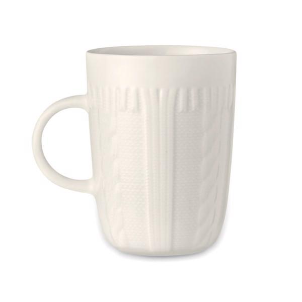 Ceramic mug 310 ml Knitty - White