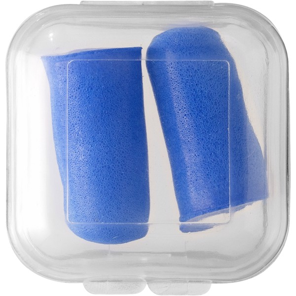 Serenity earplugs with travel case - Royal blue
