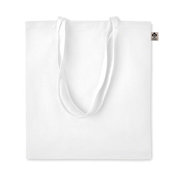 Torba na zakupy z bawełny org. Zimde Colour - biały