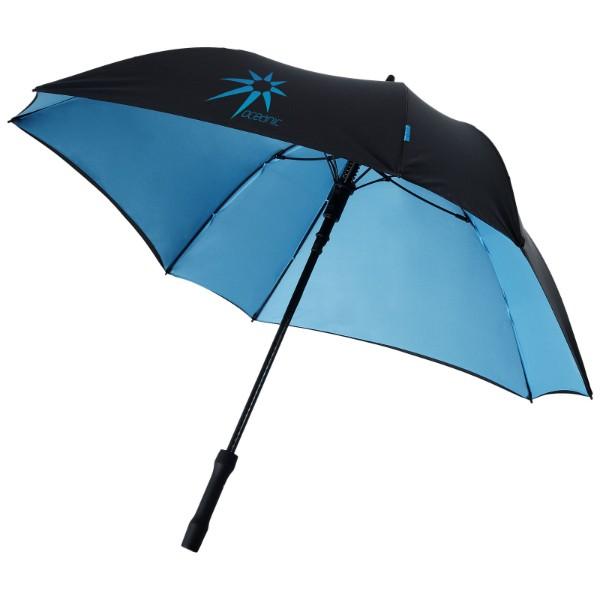 "Automatický dvouvrstvý deštník Square 23"" - Aqua blue / Černá"
