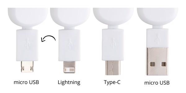 Vrtavka z USB polnilnim kablom Dorip – bela