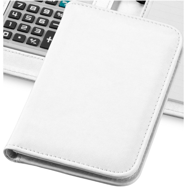 Smarti A6 notebook with calculator - White
