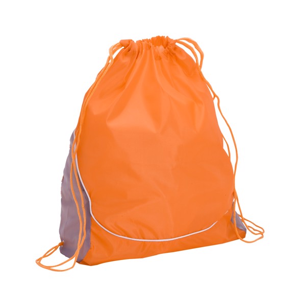 Drawstring Bag Dual - Orange / Silver