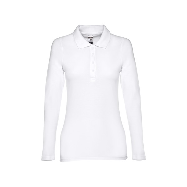 THC BERN WOMEN WH. Women's long sleeve polo shirt - White / XXL