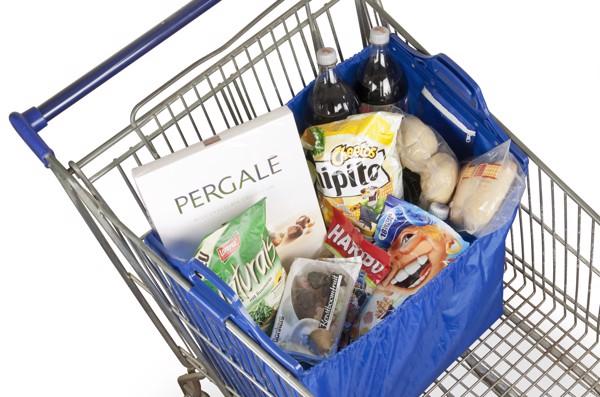 Polyester (210D) trolley shopping bag - Black