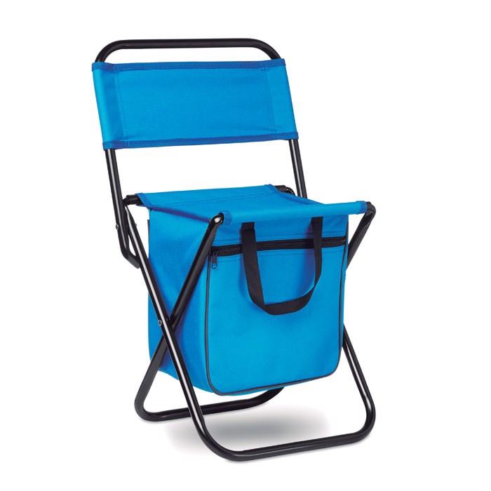 Skládací židlička a batoh Sit & Drink - royal blue