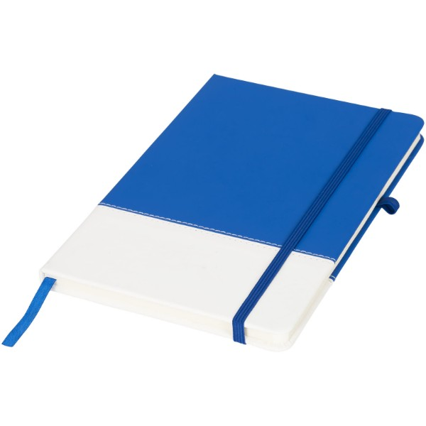 Two-tone A5 colour block notebook - Blue