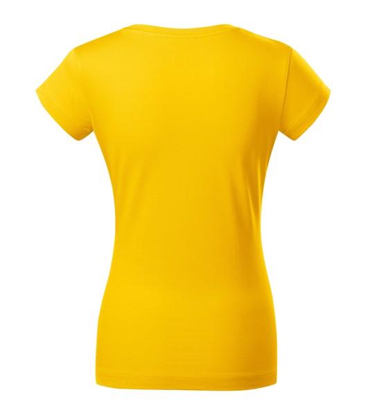Tričko dámské Malfini Fit V-neck - Žlutá / L