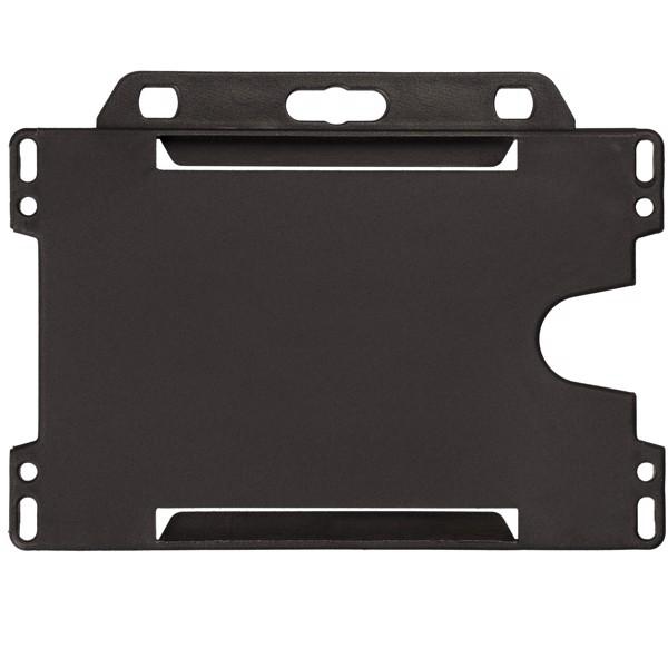 Vega plastic card holder - Solid black