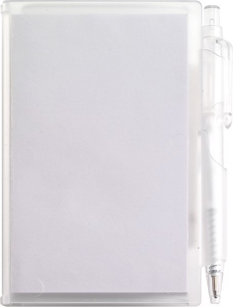 ABS notebook with pen - White