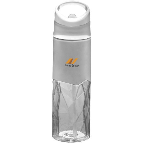 Radius 830 ml Tritan™ geometric sport bottle - Transparent clear