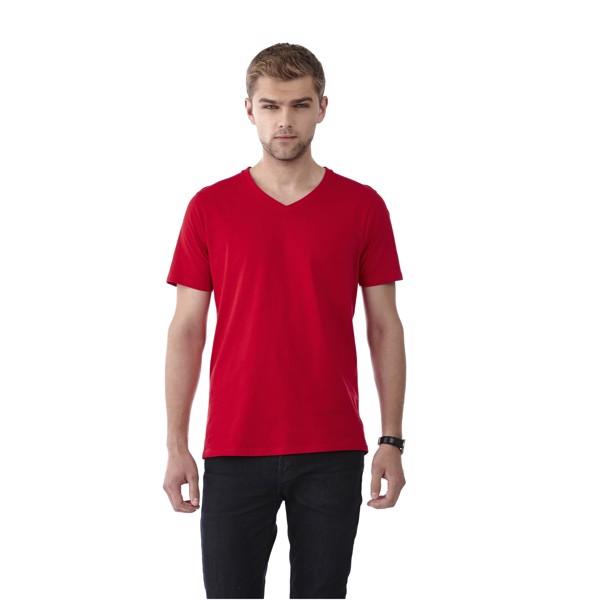 Bosey T-Shirt mit V–Ausschnitt für Herren - Dunkelrot / S