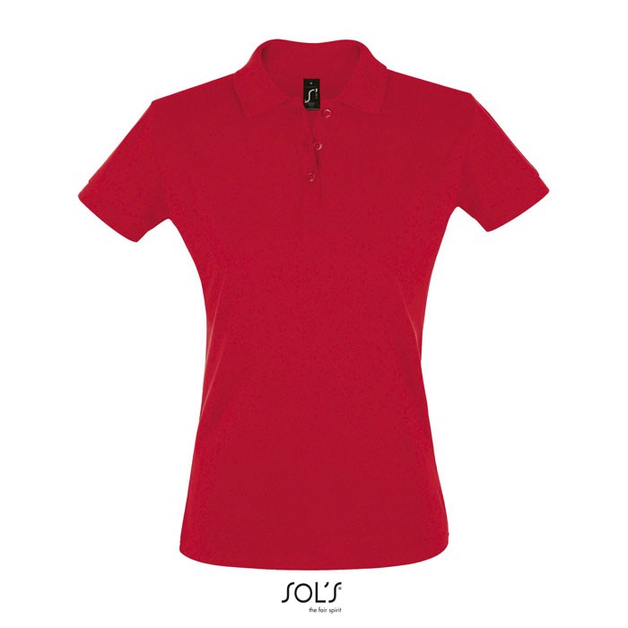 PERFECT POLO MUJER 180g Perfect Women - Rojo / XL