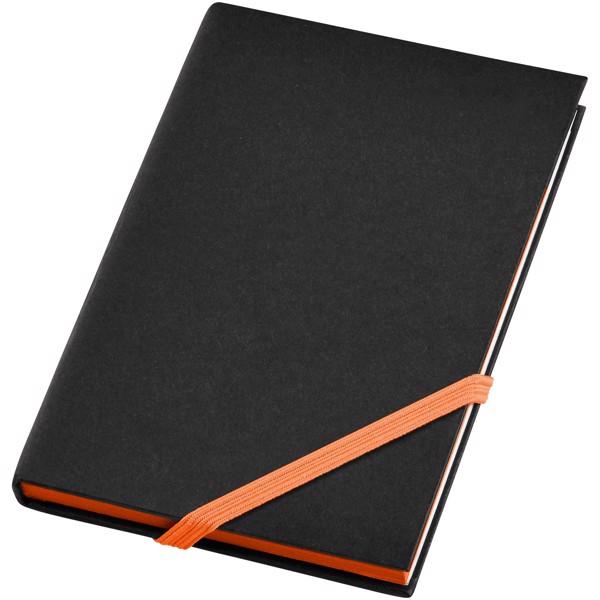 Malý zápisník s pevnou obálkou Travers - Černá / 0ranžová