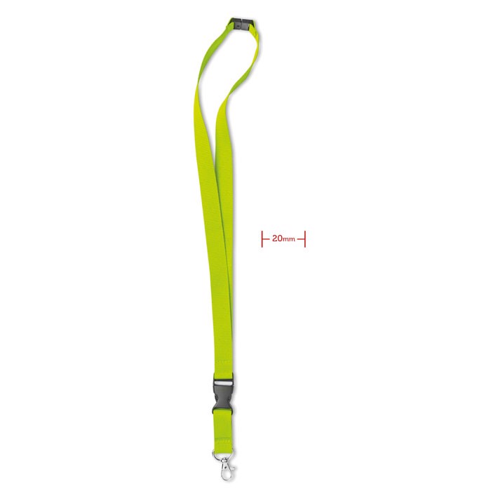Lanyard with metal hook 20 mm - Lime