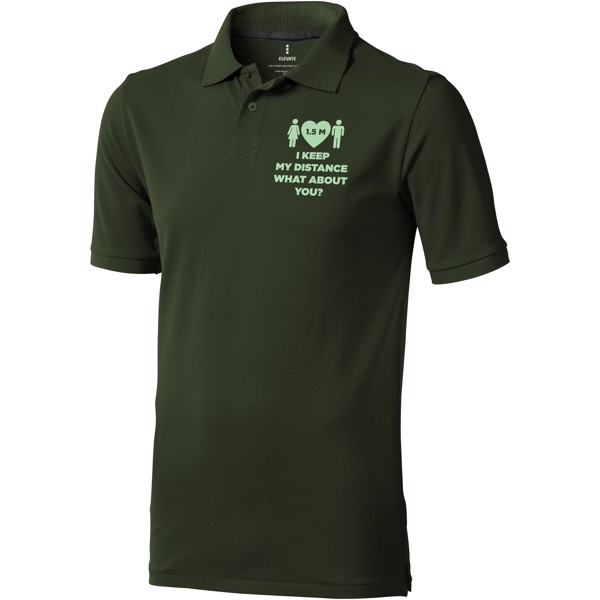 Calgary short sleeve men's polo - Army green / S