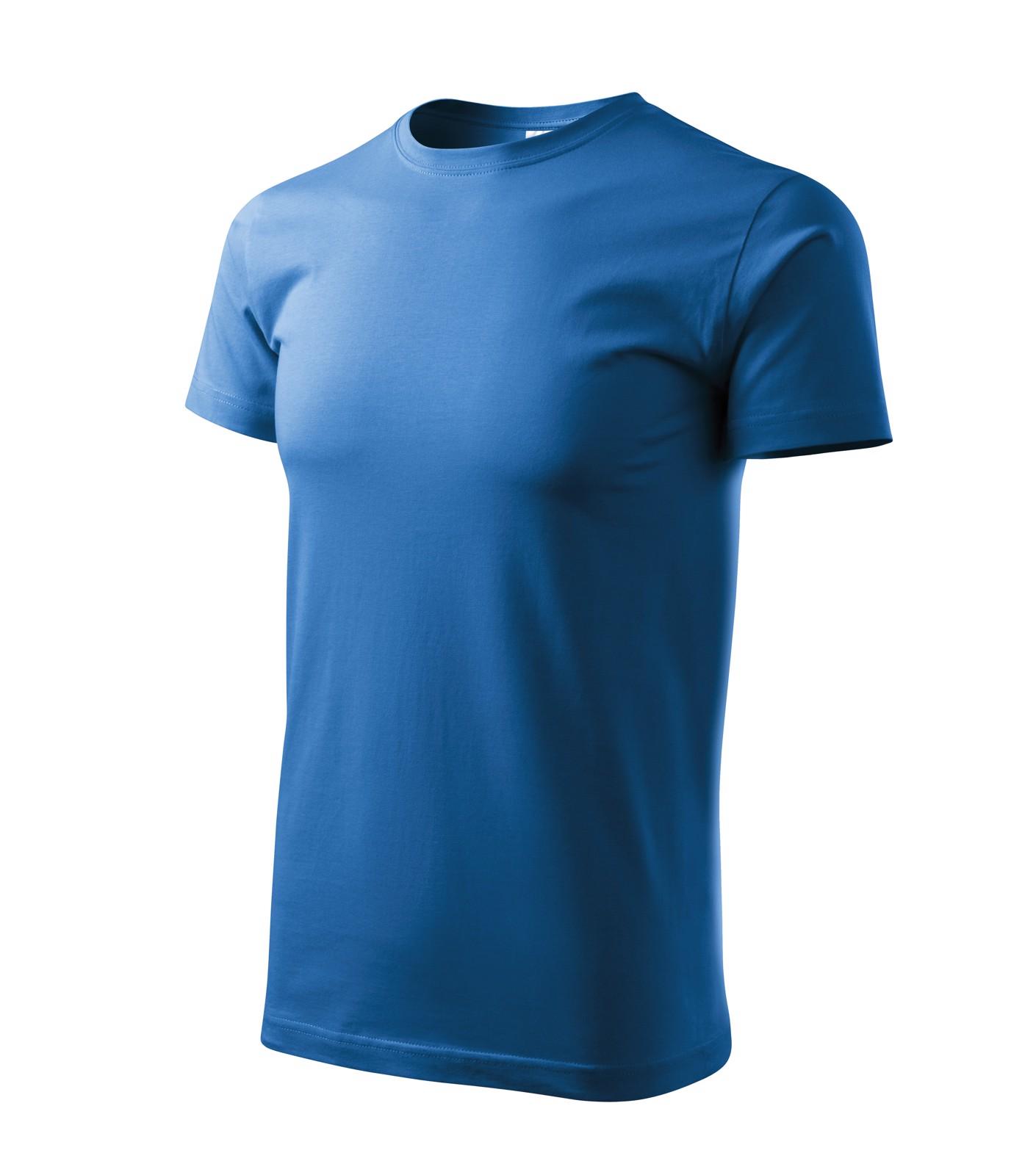Tričko pánské Malfini Basic - Azurově Modrá / 3XL