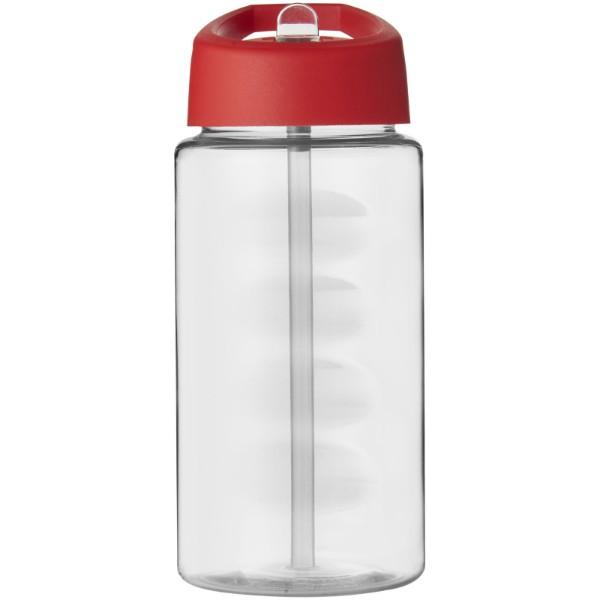 Sportovní láhev svíčkem shubičkou H2O Bop 500 ml - Průhledná / Červená s efektem námrazy