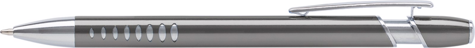 Aluminium ballpen with UV coating - Grey