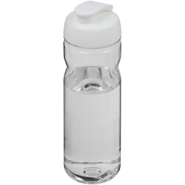 Sportovní láhev s vyklápěcím víčkem Base Tritan™ 650 ml - Průhledná / Bílá