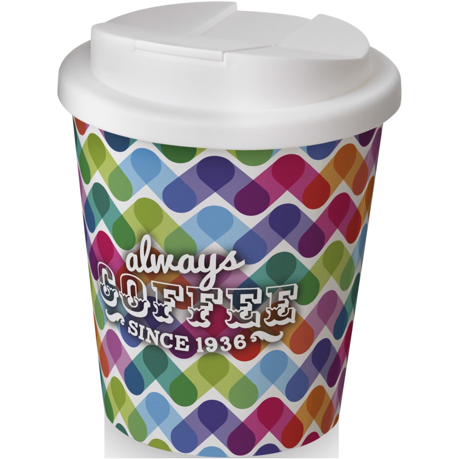 Brite-Americano Espresso® 250 ml con tapa antigoteo - Blanco