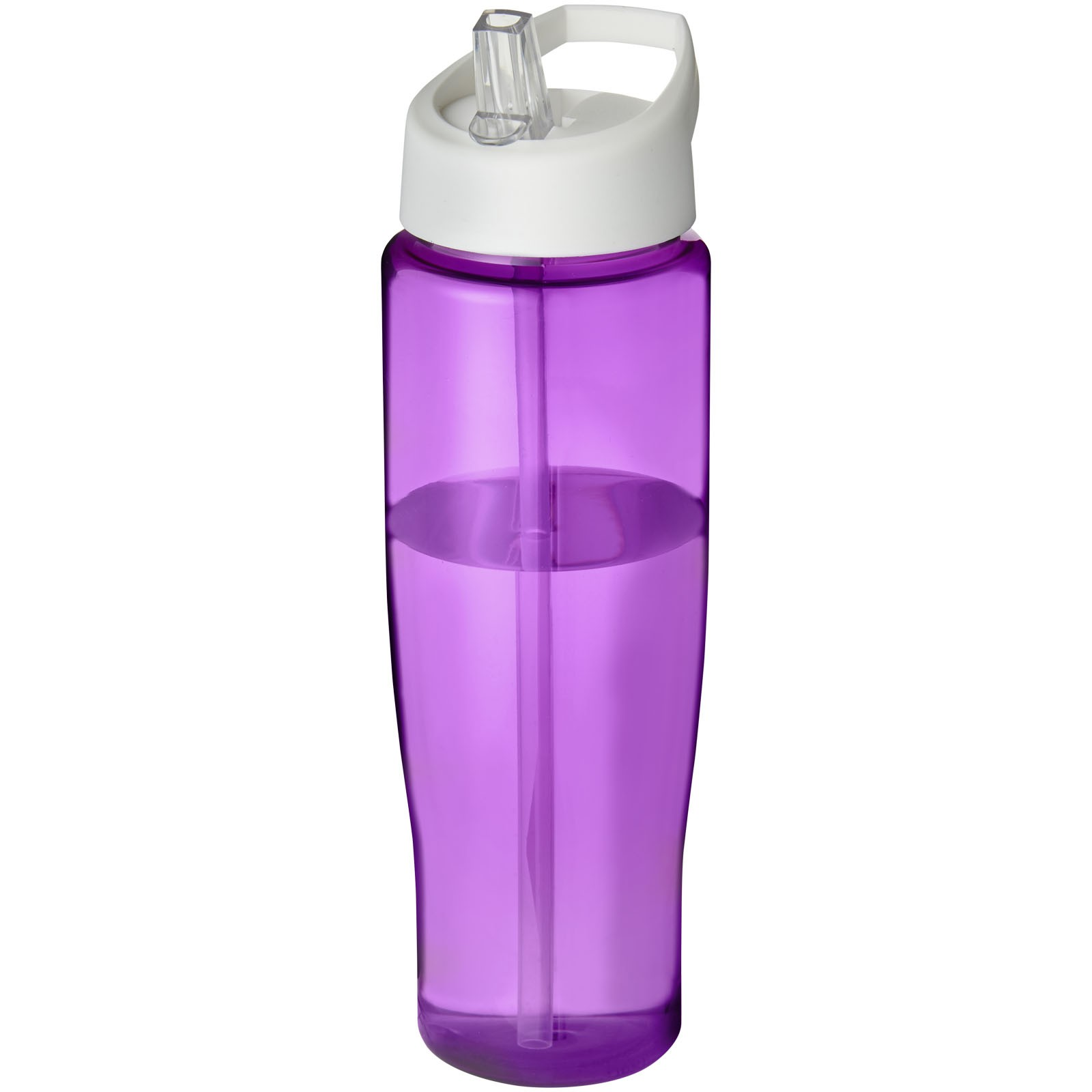 Sportovní láhev s víčkem s hubičkou H2O Tempo® 700 ml - Purpurová / Bílá