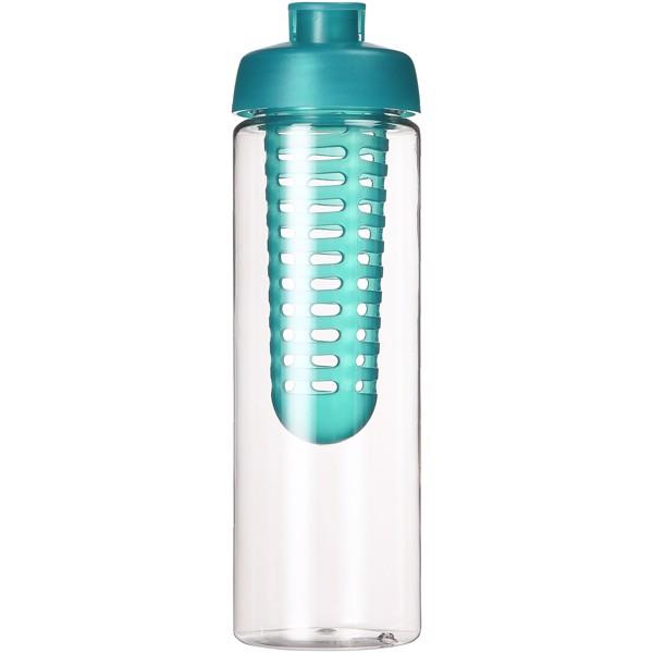 H2O Vibe 850 ml flip lid bottle & infuser - Transparent / Aqua Blue
