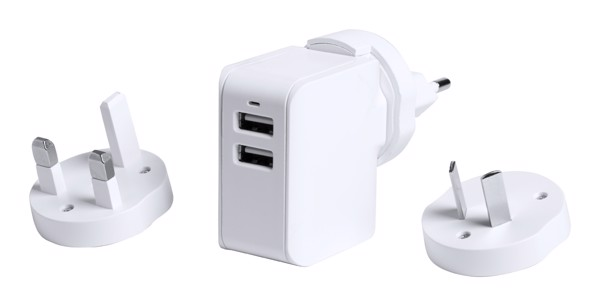 Travel Usb Wall Charger Duban - White