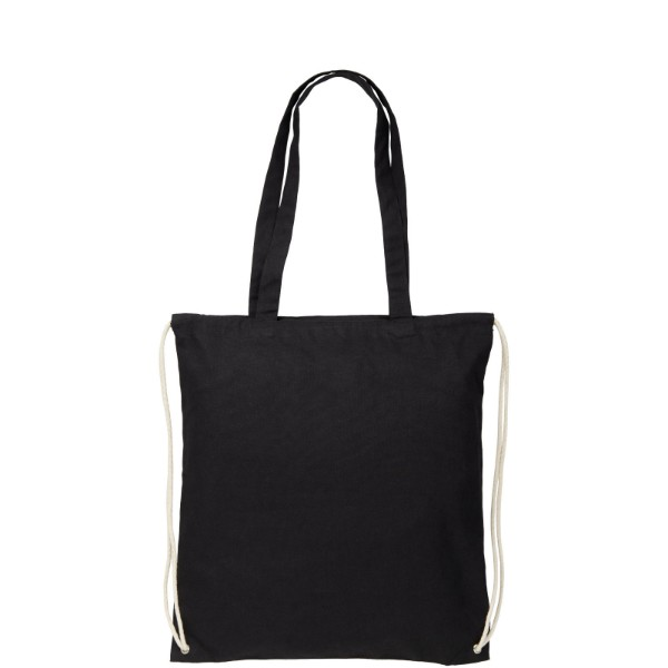 Elizo 240 g/m² bavlněný batoh se stahovací šňůrkou - Černá