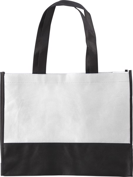 Nonwoven (80 gr/m²) shopping bag - White