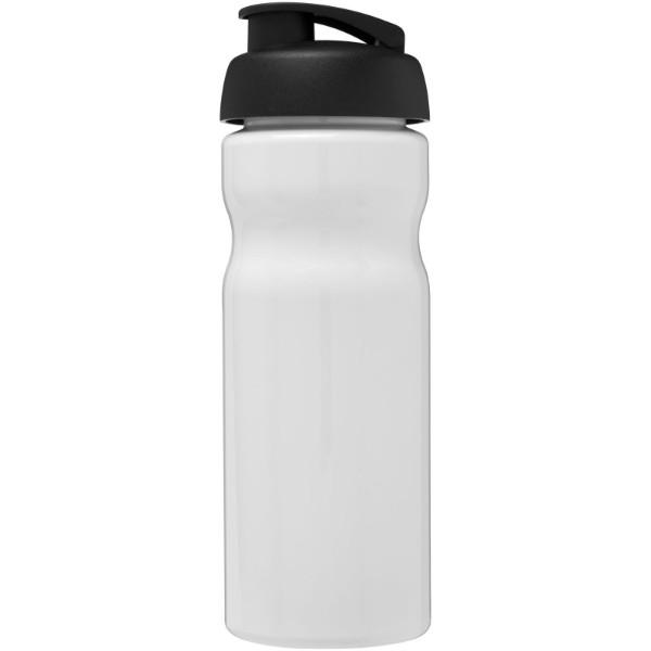Sportovní láhev s vyklápěcím víčkem H2O Base® 650 ml - Bílá / Černá